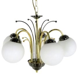Hanglamp met 5 glazen bollen