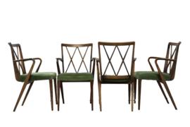 Set van 4 (+1) Poly Z stoelen van A.A. Patijn eetkamerstoelen