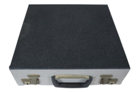 Platenkoffer donkergrijs (20 platen)