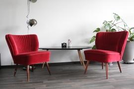 Set van twee cocktailstoelen