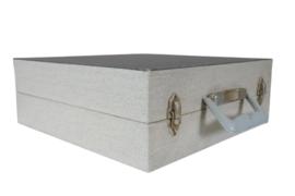 Platenkoffer grijs (25 platen)