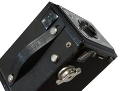 Fotocamera 'Agfa Synchro-box' + tasje