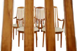"""Set van 5 Deense eetkamerstoelen van Edward Valentinsen """"Virum"""""""