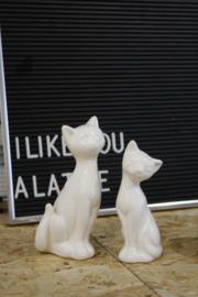 Set van 2 katten beeldjes