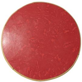 Rond plantentafeltje 'red formica'