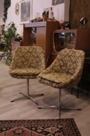 Set van 2 vintage stoeltjes