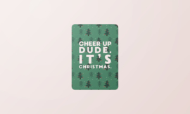 Kerstkaart | Cheer up dude