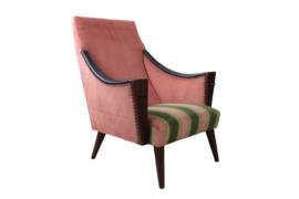 """Roze fauteuil """"Brussel"""" ( meerdere aanwezig)"""