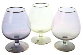 Set van 3 kristallen sherryglazen