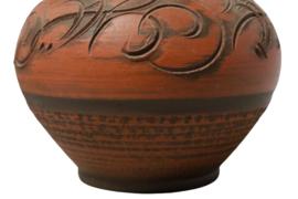 Terracotta vaas 'handarbeit  130/12'