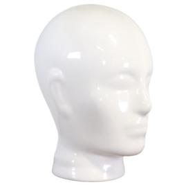 Wit keramieken koptelefoon hoofd
