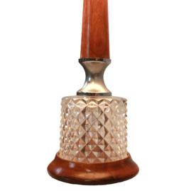 Tafellamp met kristallen voet