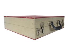Platenkoffer rood (zonder harmonica)