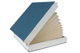 Platenkoffer blauw (15 platen)