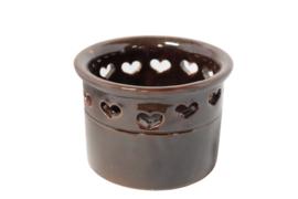 Vintage bloempot | hartjes (2 stuks aanwezig)