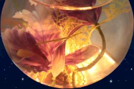 Bloemenaquarium lamp