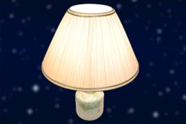 Keramiek tafellamp met creme kap