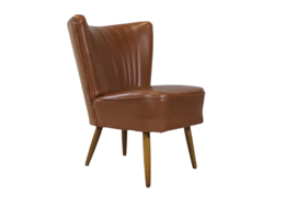 Cognackleurige cocktailstoel