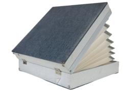 Platenkoffer grijsblauw 'Bevon' (25 platen)