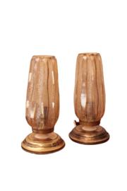 Set vintage bedlampjes
