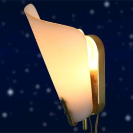 Wandlamp messing
