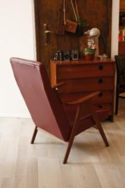 Bordeaurode fauteuil
