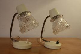 Set van 2 vintage lampjes / bedlampjes