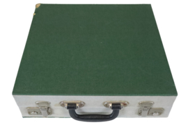 Platenkoffer groen (20 platen)