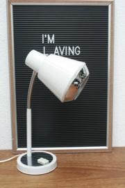 Retro witte bureaulamp