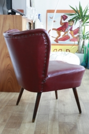 Bordeaux rode cocktail stoelen