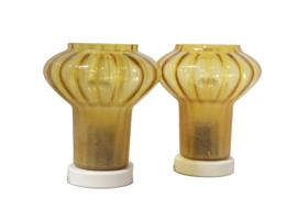 Set van twee tafel- / bedlampjes