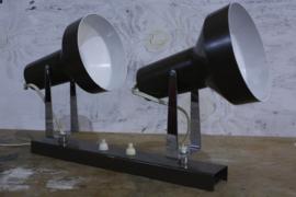Vintage wandlamp met 2 lichtbronnen | Bruin