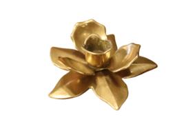 Messing bloem kandelaar (2 stuks aanwezig)