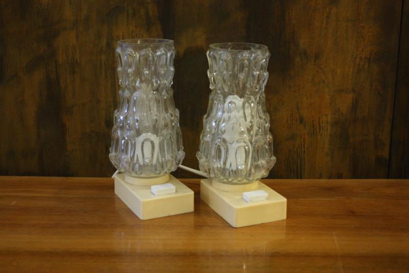 Set van twee vintage bedlampjes
