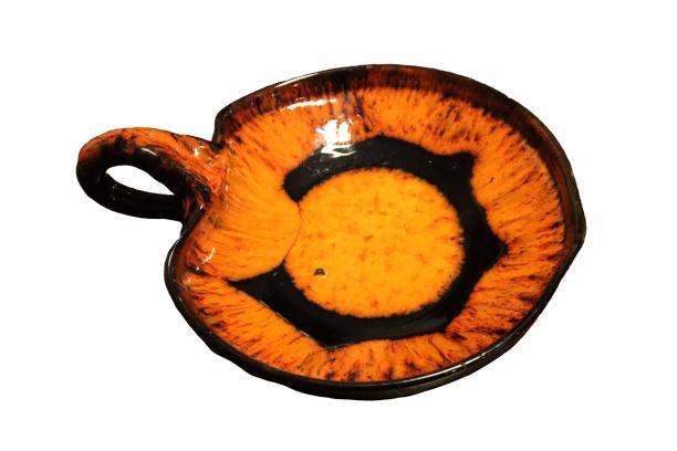 Vintage oranje schaal