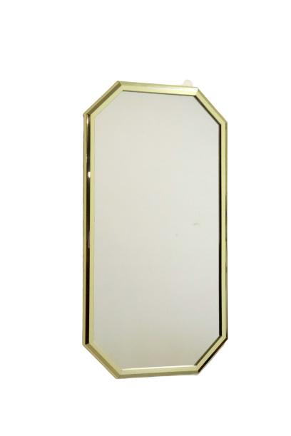 Spiegel met messing rand