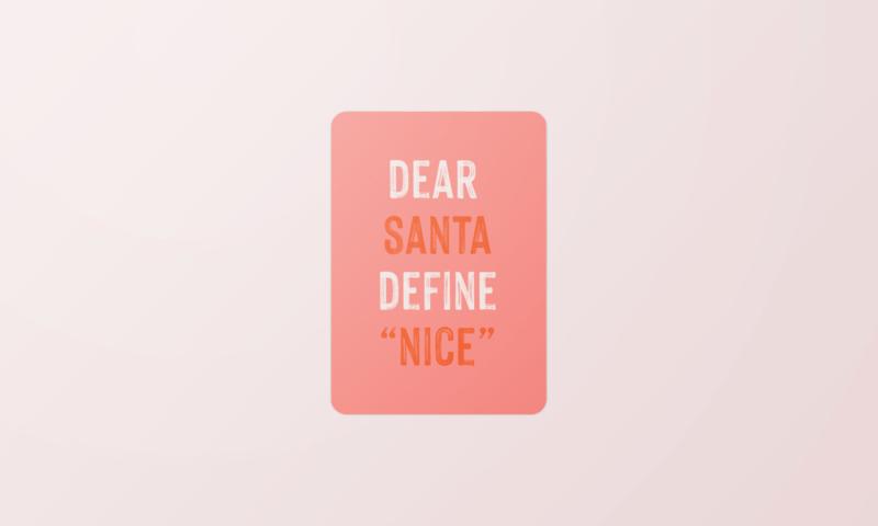 Kerstkaart | Define nice