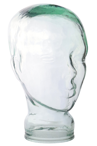Glazen koptelefoon-hoofd
