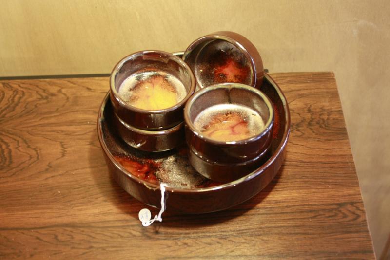 Pindaset | bruin met oranje