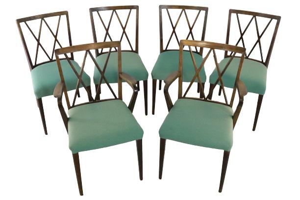 """Set van 6 stoelen A.A. Patijn voor Zijlstra Joure """""""