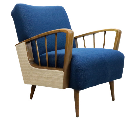 """Blauwe fauteuil """"Essing"""""""