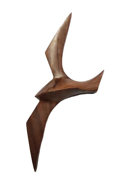 Houten wanddeco Meeuw (21 cm)