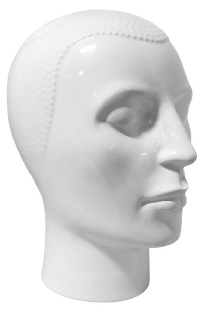 Koptelefoon-hoofd wit