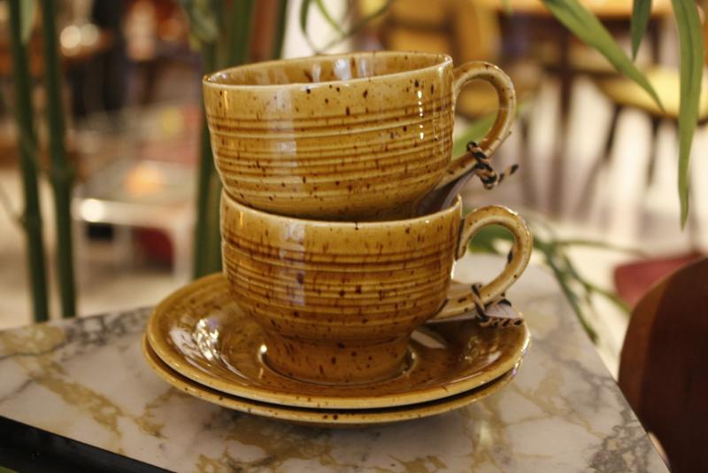 Vintage kop en schotel