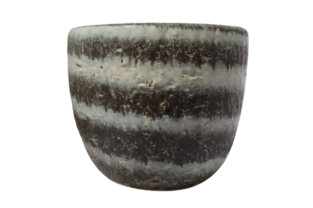 Bloempot 'zebra'