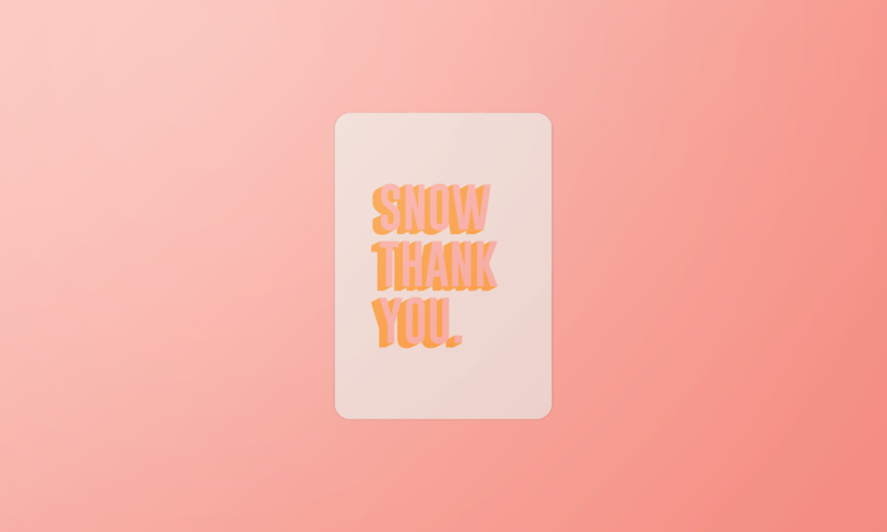 Kerstkaart | Snow thank you!