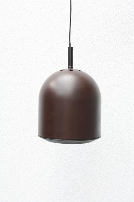 Jaren '70 hanglamp donkerbruin