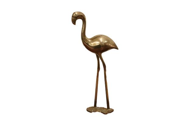 Messing flamingo