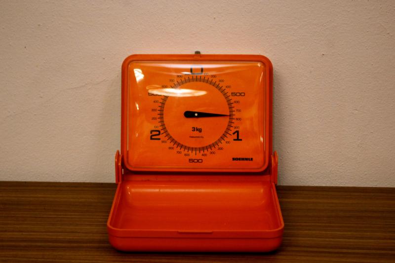 Oranje wandweegschaal