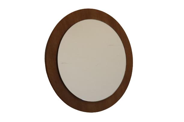 Spiegel met teak rand